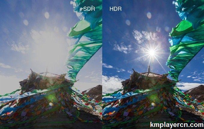 KMPlayer支持HDR转SDR HDR图像自动校正